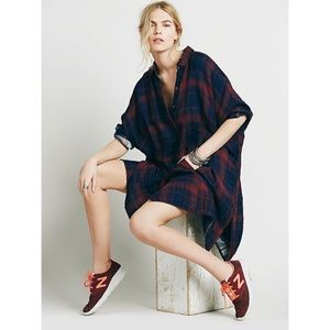 Free People Plaid Flannel Oversized Tunic